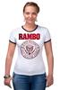 "Футболка Рингер ""Rambo"" - rocky, сильвестр сталлоне, rambo, sylvester stallone, рокки бальбоа"