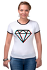 "Футболка Рингер ""Стерео Бриллиант"" - style, подарок, swag, стерео, бриллиант, diamond"