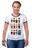 """Футболка """"Рингер"""" (Женская) """"Доктор Кто (Doctor Who)"""" - doctor who, tardis, доктор кто, тардис, time lord"""