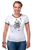 """Футболка Рингер """"Meduzz T2"""" - море, графика, медуза, дотворк, jellyfish, tm kiseleva"""