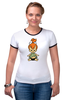 """Футболка Рингер """"футболка """"флинстоуны"""""""" - арт, смешные, в подарок, девушке"""