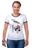 "Футболка Рингер ""Cute? "" - bear, стиль, медведь, панда, cute, мило, panda, панды, милота"
