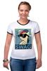 """Футболка """"Рингер"""" (Женская) """"Пони SWAG"""" - style, pony, mlp, swag"""