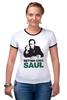 "Футболка ""Рингер"" (Женская) ""Better call Saul"" - во все тяжкие, breaking bad, better call saul, лучше звоните солу, сол гудман"
