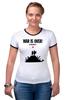 """Футболка Рингер """"war is over"""" - арт, мир, peace"""