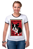 """Футболка Рингер """"Boston Terrier"""" - dog, терьер, boston terrier, бостон терьер"""