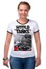 "Футболка ""Рингер"" (Женская) ""World of Tanks"" - игры, world of tanks, танки, wot"
