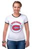 "Футболка ""Рингер"" (Женская) ""Montreal Canadiens"" - хоккей, nhl, нхл, montreal canadiens, монреаль канадиенс"