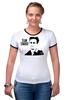 "Футболка Рингер ""Edward Snowden"" - edward snowden, америка, россия, цру, эдвард сноуден"