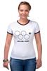 """Футболка Рингер """"Олимпийские кольца в Сочи 2014"""" - олимпиада, нераскрывшееся олимпийское кольцо, sochi-2014, сочи-214"""