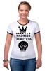 "Футболка ""Рингер"" (Женская) ""Madness"" - skull, череп, корона, фэшн, crown"