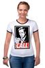 "Футболка ""Рингер"" (Женская) ""Better call Saul"" - obey, call, better call saul, лучше звоните солу, сол гудман"