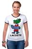 """Футболка """"Рингер"""" (Женская) """"гена лакост"""" - lacoste, крокодил гена, лакост"""