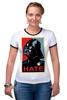 "Футболка ""Рингер"" (Женская) ""Darth Vader - Hate"" - star wars, darth vader, звездные войны, дарт вейдер"