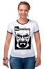 "Футболка ""Рингер"" (Женская) ""Heisenberg (Breaking Bad)"" - во все тяжкие, breaking bad, heisenberg"