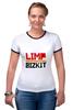 "Футболка Рингер ""Limp Bizkit"" - limp bizkit, lb, wes borland, fred durst"