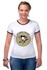 """Футболка """"Рингер"""" (Женская) """"Питтсбург Пингвинз """" - хоккей, nhl, нхл, питтсбург пингвинз, pittsburgh penguins"""