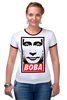 "Футболка Рингер ""Вова Путин "" - россия, путин, putin, владимир путин, все путем"