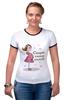 """Футболка """"Рингер"""" (Женская) """"Скоро стану мамой!"""" - baby, беременность, mother, футболки для беременных, футболки для беременных купить, принты для беременных, pregnant, expecting"""