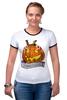"Футболка Рингер ""Helloween"" - хэллоуин, helloween"