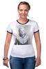 """Футболка """"Рингер"""" (Женская) """"Marilyn Monroe  """" - ретро, ню, мэрилин монро, marilyn monroe, kinoart"""