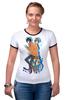 "Футболка ""Рингер"" (Женская) ""Nyan Cat & Tac Nayn T-shirt"" - cat, nyan, nyancat, tacnayn"