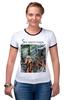 """Футболка Рингер """"Soosanin maps by Hearts of Russia"""" - google, сусанин, heartsofrussia, soosanin, maps"""