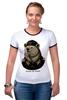 "Футболка ""Рингер"" (Женская) ""made in USSR"" - bear, ссср, медведь, россия, russia, патриотические футболки, арт медведь, russian bear, made in ussr"