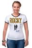 """Футболка """"Рингер"""" (Женская) """"Rocky / Рокки"""" - бокс, рокки, rocky, оскар, kinoart"""