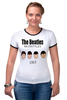 "Футболка Рингер ""The Beatles 1963 "" - rock, england, великолепная четвёрка"