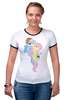 "Футболка ""Рингер"" (Женская) ""Dash & Flutty"" - rainbow dash, my little pony, friendship is magic, cooler, fluttershy"