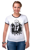 "Футболка ""Рингер"" (Женская) ""Mr. Lavrov we love"" - россия, russia, лавров, lavrov, weloverov"