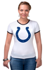 "Футболка Рингер ""Indianapolis Colts"" - удача, подкова, nfl, американский футбол, indianapolis colts"