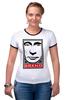 "Футболка ""Рингер"" (Женская) ""brand"" - стиль, мода, путин, бренд"