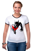 """Футболка Рингер """"Bad Batman (Плохой Бэтман)"""" - batman, бэтмен"""