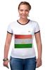 """Футболка Рингер """"Флаг Таджикистана"""" - арт, флаг, tajlife, таджикистана"""