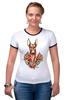 "Футболка Рингер ""фараон тч"" - dog, собака, олдскул, розы, фараон, roses, дог, tm kiseleva, фараонова собака"