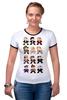 """Футболка """"Рингер"""" (Женская) """"Доктор Кто (8-bit)"""" - doctor who, доктор кто, pixel art, 8-bit, пиксельная графика"""
