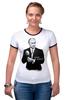 "Футболка Рингер ""One & Only by K.KARAVAEV"" - russia, путин, президент, putin"