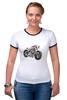 """Футболка Рингер """"Мотоцикл"""" - bike, мотоцикл"""