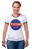 "Футболка ""Рингер"" (Женская) ""Путина в президенты Америки (2016)"" - usa, патриот, путин, президент, putin"