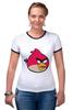 """Футболка Рингер """"Angry Birbs"""" - angry birds"""
