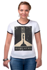 "Футболка Рингер ""Buried at sea"" - плакат, биошок, bioshock, восторг, rapture"