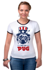 "Футболка Рингер ""Мопс Президент (Obey pug)"" - pug, obey, мопс, obey the pug, мопс президент"