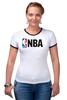 "Футболка Рингер ""National Basketball Association"" - баскетбол, nba, нба"