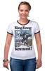 "Футболка ""Рингер"" (Женская) ""King Kong"" - обезьяна, кинг конг, king kong, кинг-конг"