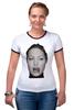 "Футболка Рингер ""Angelina Jolie"" - angelina jolie, анджелина джоли"