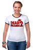 "Футболка Рингер ""Dead Island 2"" - zombie, зомби, кровь, ужасы, dead island 2"