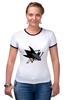 "Футболка Рингер ""San Jose Sharks"" - 3d, хоккей, swag, нхл, сан-хосе шаркс"