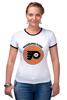 "Футболка ""Рингер"" (Женская) ""Philadelphia Flyers"" - хоккей, nhl, нхл, филадельфия флайерз, philadelphia flyers"